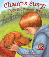 A young boy discovers his dog's 