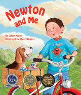 Join a young boy and his dog 