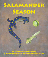 "A young girl's illustrated, photographic journal follows salamanders through complete metamorphosis from the cold, rainy spring ""Salamander Night"" egg laying to adult stage in late summer."