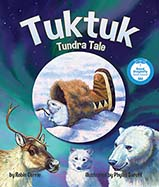 Tuktuk found a furry kamik to line his winter burrow. When other, bigger animals see him and want his kamik, this little trickster has to convince them that no one needs one furry kamik – except a collard lemming.