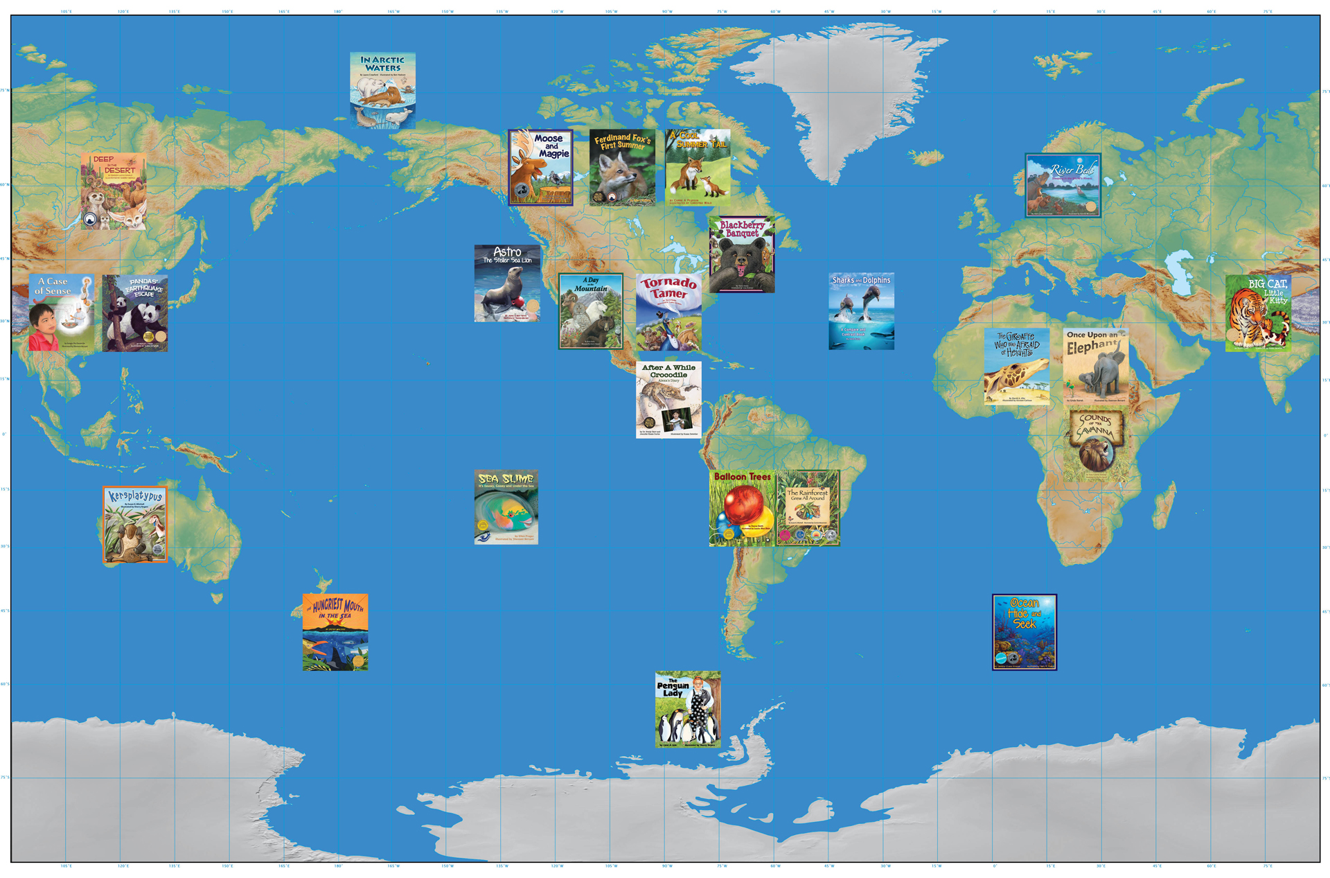 Arbordale Publishing - Interactive map for children